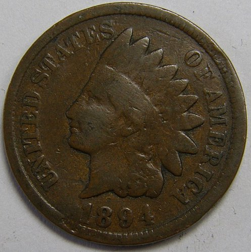 1894 P Indian Head Cent #9