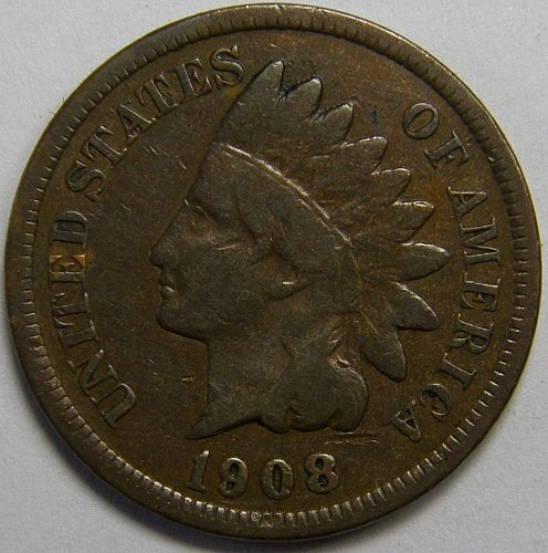 1908 P Indian Head Cent #18
