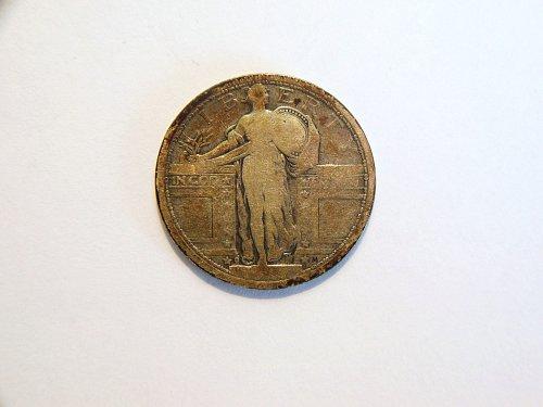 1917-D Type 1 Standing Liberty Silver Quarter