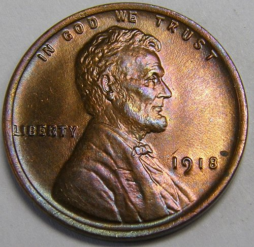 1918 P Lincoln Wheat Cent #5