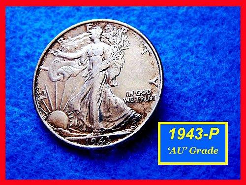 1943-P  Liberty Walking Half Dollar –––  (#1472)
