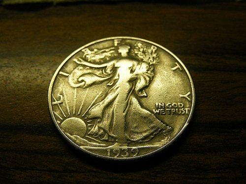 1939 S Walking Liberty Silver Half Dollar