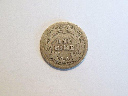 1904-P Silver Barber Dime