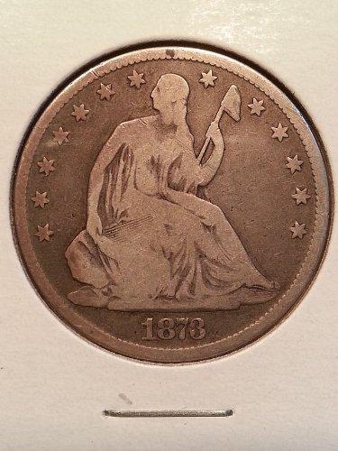 1873 Seated Liberty Half