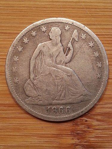 1866-S Seated Liberty Half