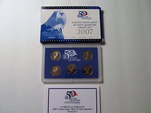 2007 US Mint 50 State Quarters Proof Set #2