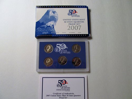 2007 US Mint 50 State Quarters Proof Set #3