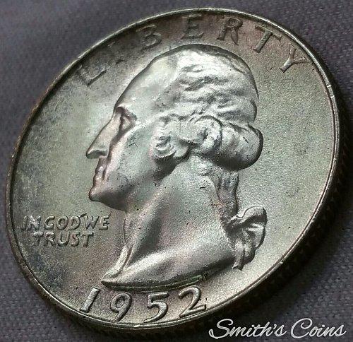 1952 S Washington Quarter ~ MS 65
