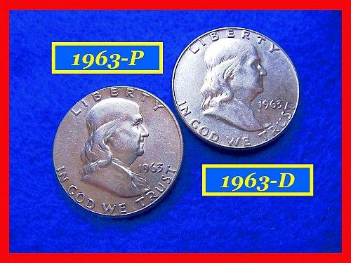 1963-P & 1963-D  Franklin Half Dollars ––– (#1471)