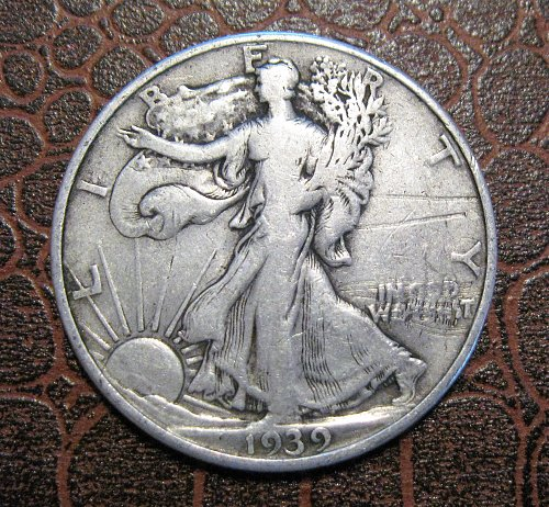 1939 D Walking Liberty Half Dollar,