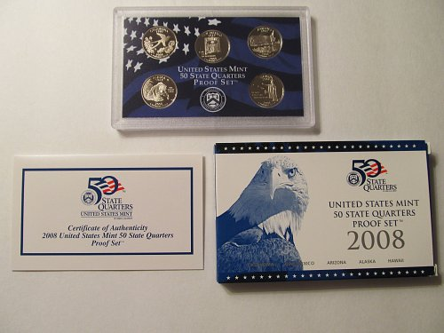 2008 US Mint 50 State Quarters Proof Set