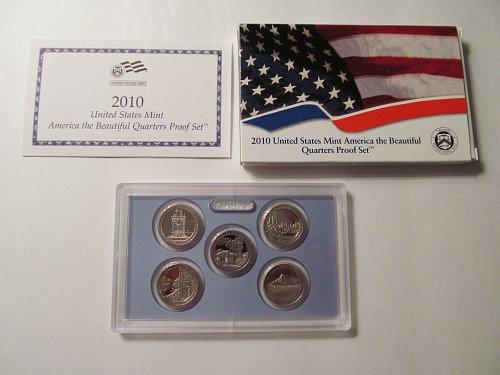 2010 US Mint America the Beautiful Quarters Proof Set