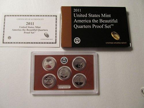 2011 US Mint America the Beautiful Quarters Proof Set