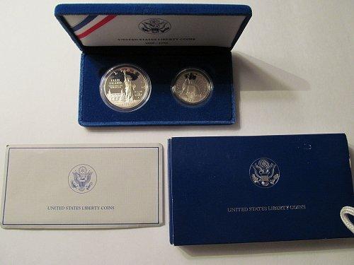 1986 US Liberty Coin Set - Proof