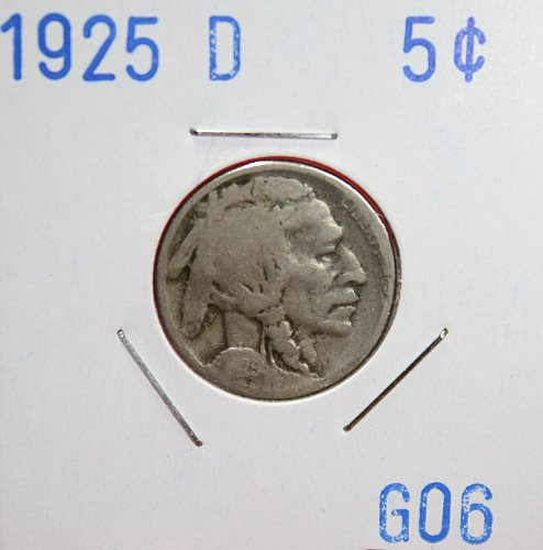 1925 D Buffalo Nickle