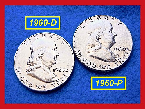 1960-P & 1960-D  Franklin Half Dollars ––– #1475