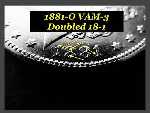 "1881-O VAM-3 • Morgan Dollar •Great Coin in ""AU""  Condition  (#5115)"