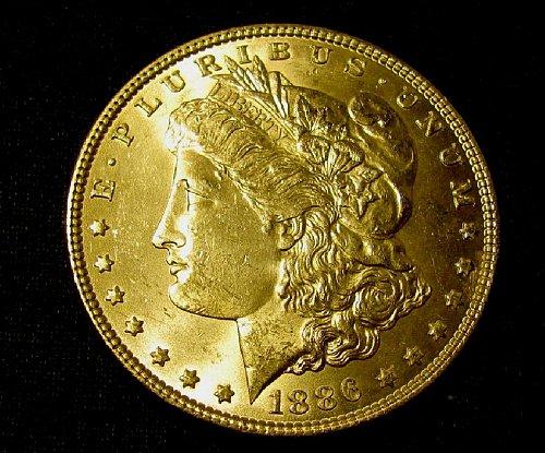 1886 Morgan Silver Dollar GEM BU-British WW 1 coins? see FOR SALE !!