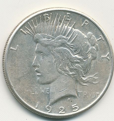 very nice 1925S Peace dollar