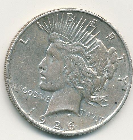 1926D Peace dollar