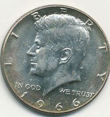 1966 Kennedy half