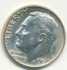 1961D Roosevelt dime
