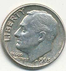 1963D Roosevelt dime