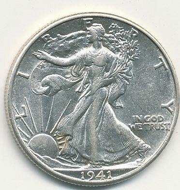 very nice 1941D Walking Liberty half