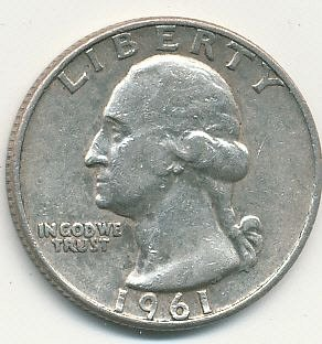 1961D Washington quarter