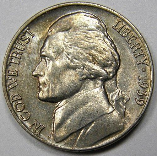1939 P Jefferson Nickel #1  Rev of '40