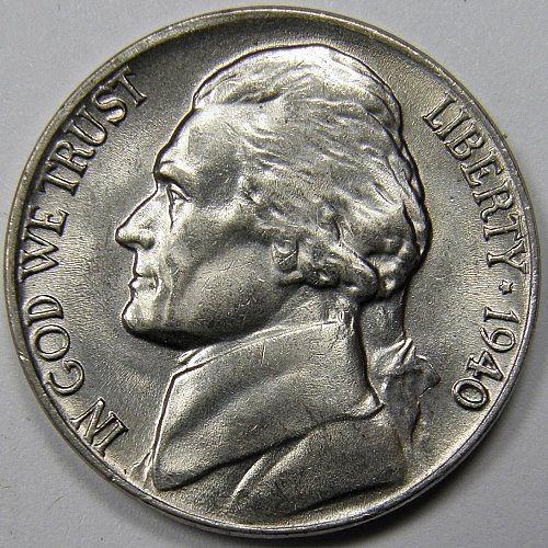 1940 P Jefferson Nickel #2