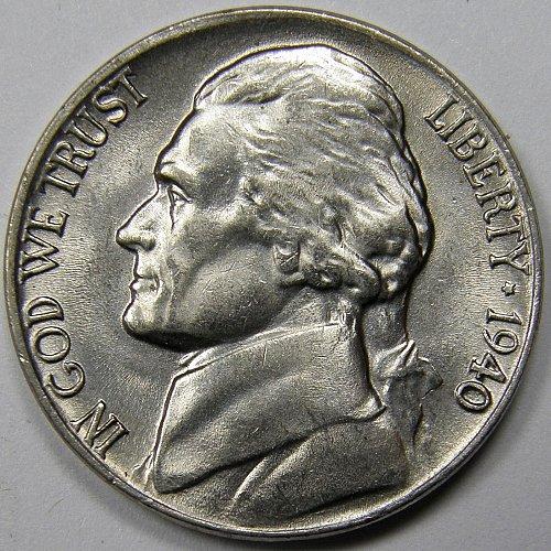 1940 P Jefferson Nickel #2