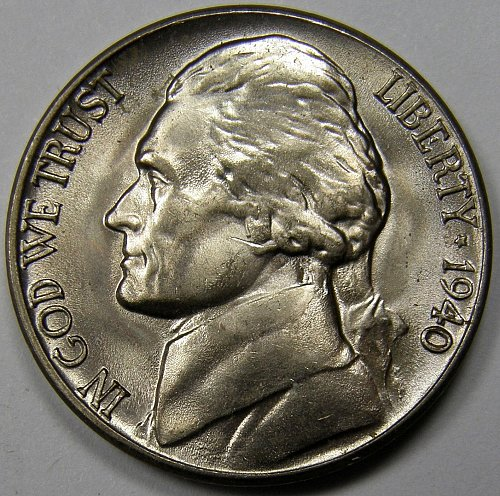 1940 D Jefferson Nickel #2