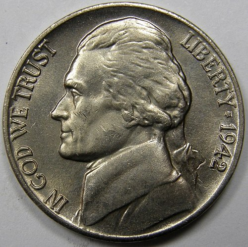 1942 P Jefferson Nickel #3  Type 1