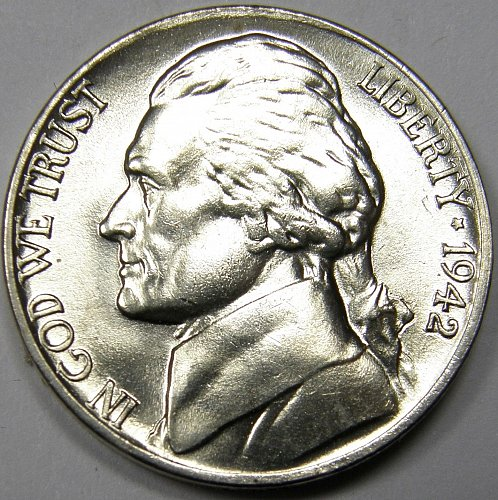 1942 P Jefferson Nickel #4  Type 2
