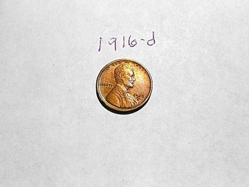 1916-d Lincoln Wheat Cent       AU/UNC   RB