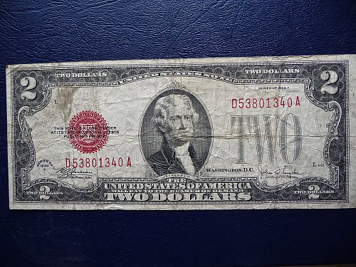 1928-F  $2.00 United States Note