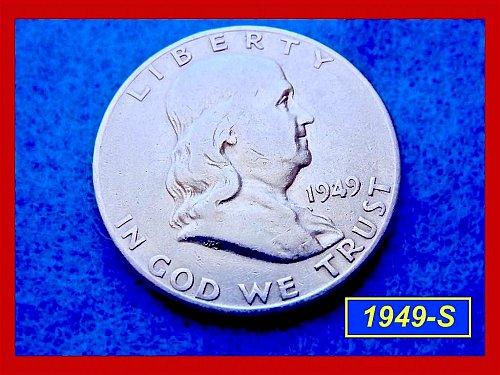 1949-S  Franklin Half Dollars ––– Circulated (#1267)