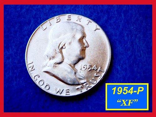 1954-P   Franklin Half Dollar –  Circulated Condition (#1385)