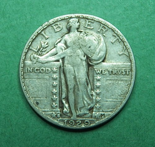 1929 S Standing Liberty Quarter Very Fine Coin   g35