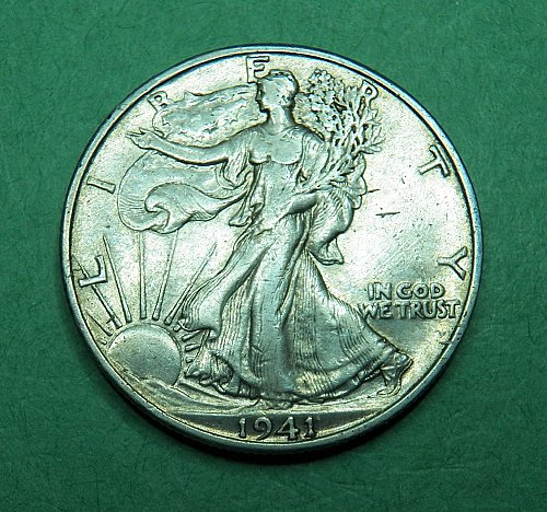 1941 D Walking Liberty Half Dollar Extra Fine Coin   g32