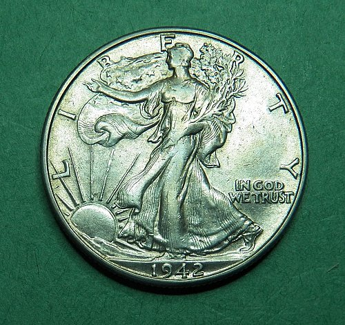1942 D Walking Liberty Half Dollar Extra Fine+ Coin   g33