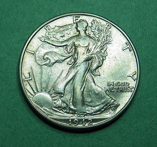 1942 D Walking Liberty Half Dollar Extra Fine+ Coin   g33