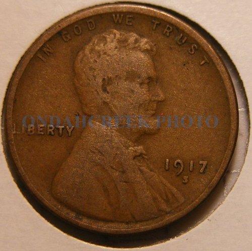 1917-S Lincoln Cent Fine