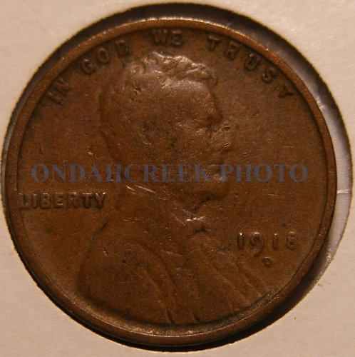 1918-D Lincoln Cent Good