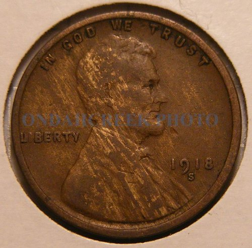 1918-S Lincoln Cent Fine Woody