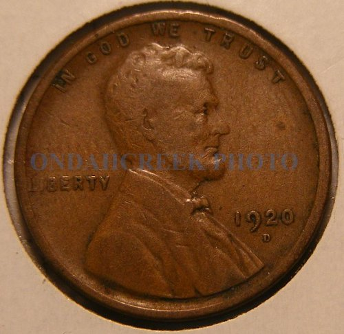 1920-D Lincoln Cent VG