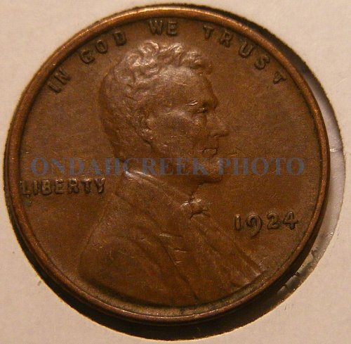 1924 Lincoln Cent XF
