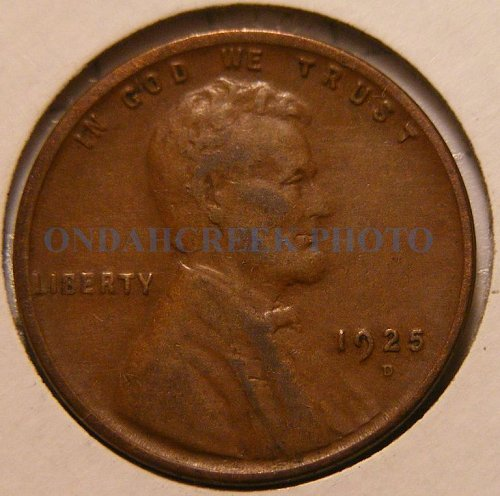1925-D Lincoln Cent XF