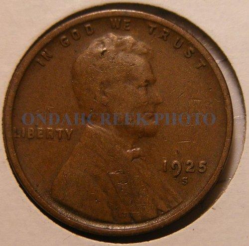 1925-S Lincoln Cent Fine